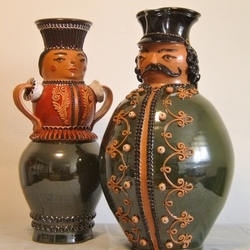 Miska Jar with his Spouse