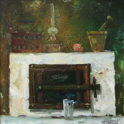 Still-life with Fireplace